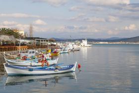 Hafen an der Türkischen Ägäis