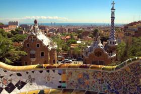 Blick auf Barcelona vom Park Güell aus